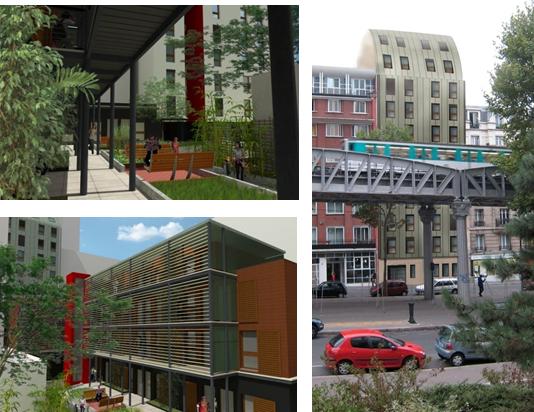 COALLIA – Résidence 145 studios – Restructuration / Surélévation des bâtiments R+5 – R+8 /  Création de 2 bâtiments en cœur d'îlot